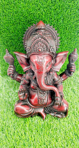 "10""  Ganesha/ Ganesh Handmade Statue/Lord of New Beginnings/Good Luck/Remover of"