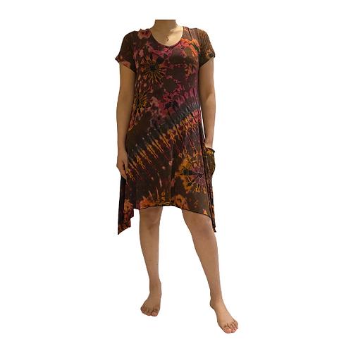 Tie-Dye Colorful Summer Dress/Tie Dye Tshirt Dress