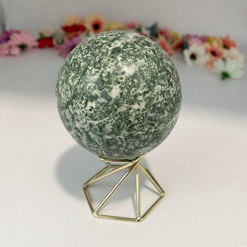 50mm Natural Jade Sphere,Crystal for Meditation, Gemstone for Fertility