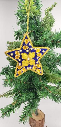 Handmade Christmas Ornaments, HandembroideryChristmas Tree Decor, Star Ornaments