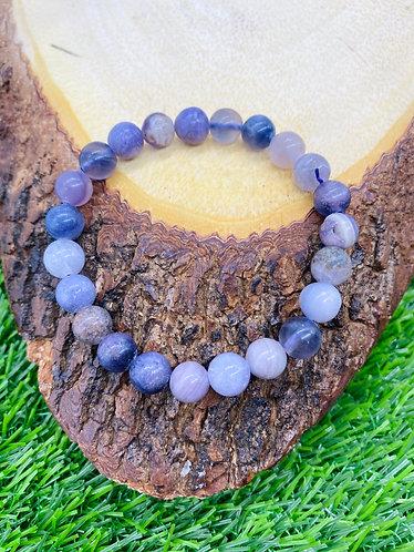 Handmade Rainbow Jasper Gemstone Bracelet/ Healing, calming Bracelet