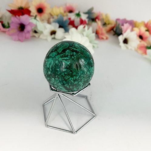 Malachite Sphere Crystal, Gemstone for Positive Transformation