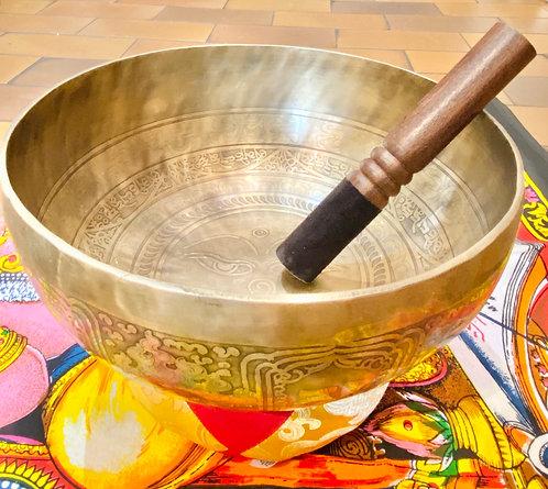 "10"" Diameter Handmade Seven Metal Singing Bowl from Nepal"