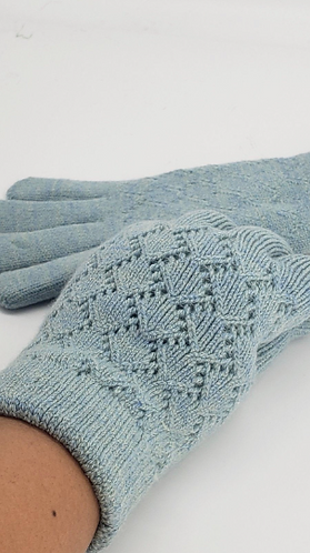 Hand Knit Unisex Gloves with Fleece Lining, Gloves with Double Lining, Winter Wa