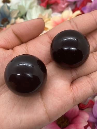 Natural Obsidian Sphere Crystal