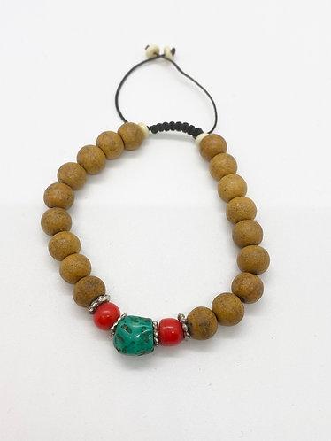Handmade Natural Sandalwood Prayer Beads Bracelet