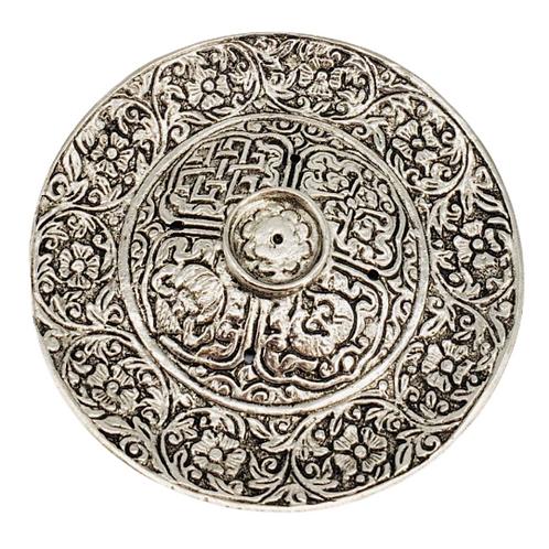 Round Flower Design Metal incense Burner