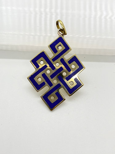 Handmade  Tibetan Infinity/Endless Knot  Pendant