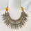 Thumbnail: Silver Choker Necklace with Amber Beads