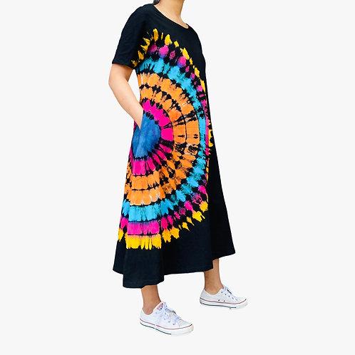 Hand Tyedye Cotton Jersey Dress