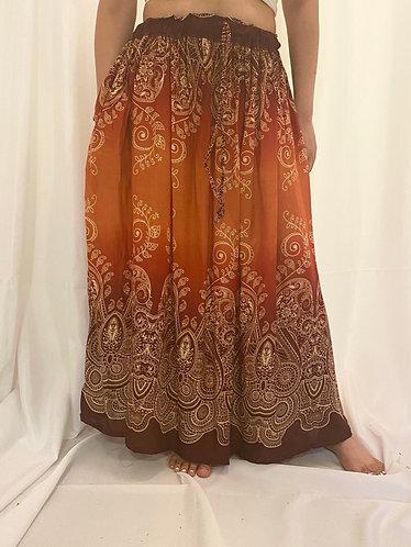 Orange Rayon Skirt
