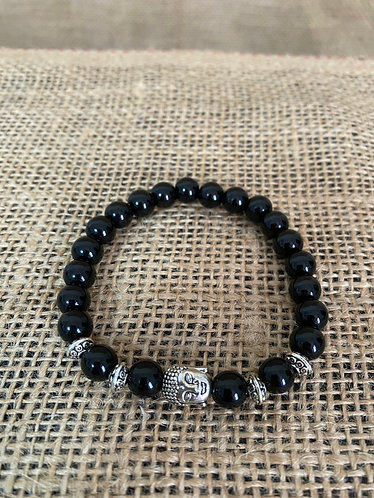 Onyx with Buddha Charm