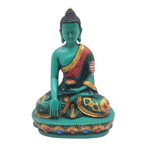 Colorful Healing Buddha Statue from Nepal