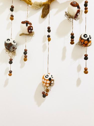 Felt Owl Mobil Hanging,Nursery Decor, ,Crib Mobile,Nursery Mobile, Hanging Mobil