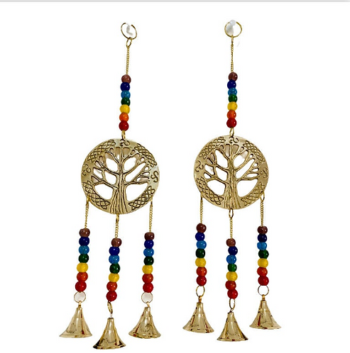 Seven Chakra Wall Hanging, Tree of Life Wind Chime