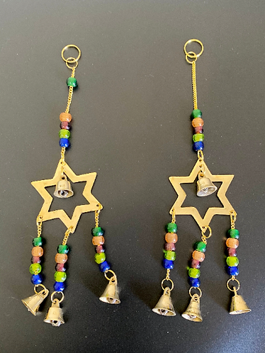 Brass Windchime with Bell Star