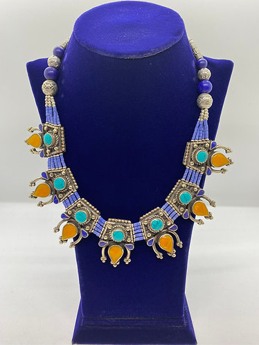 Handmade  Ethnic Tibetan Fusion  Necklace