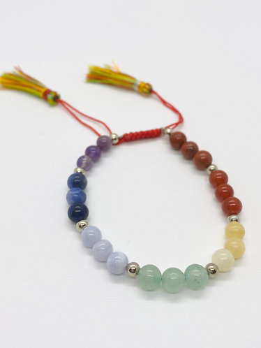6 mm Adjustable Chakra Bracelet