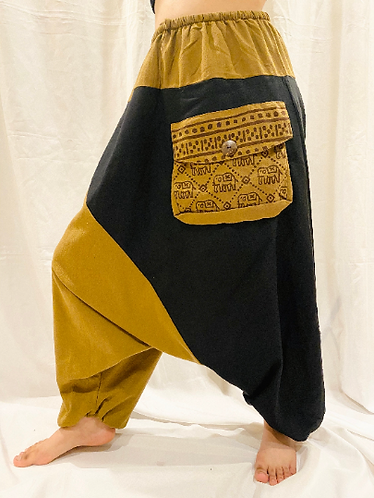 Aladdin Cotton Pants, Elephant Print Yoga Pant