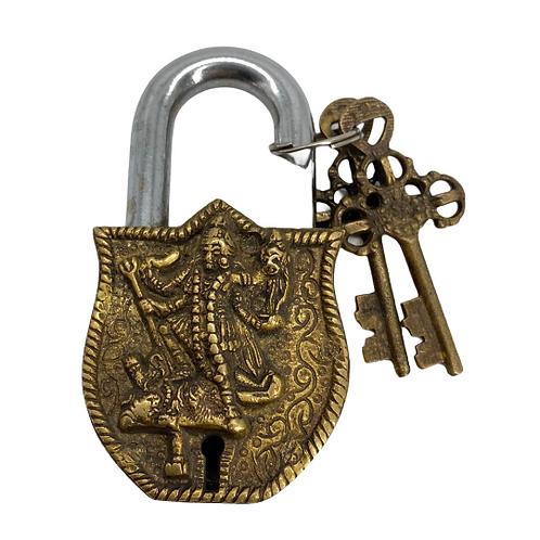 Handmade Vintage Padlock/Kali Brass Locks/Brass Handicraft