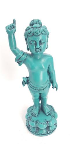 Handmade Baby Buddha, Green Baby Buddha from Nepal, Resin Baby Buddha, Healing B