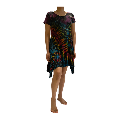 Tie Dye T-shirt Dress/Tie Dye Dress/Summer Coverup Sundress/Free Size/Plus Size