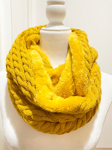 Hand Knit Winter Infinity Scarves, Warm Winter Scarves, Chunky Knit Infinity Sca