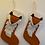 Thumbnail: Handmade Felt Wool Animal Christmas Stocking from Nepal,Reindeer Sheep Bear Fox