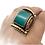 Thumbnail: Tibetan Turquoise Gemstone Ring,Square Desing Cabochon stone Ring, Tibetan Silve