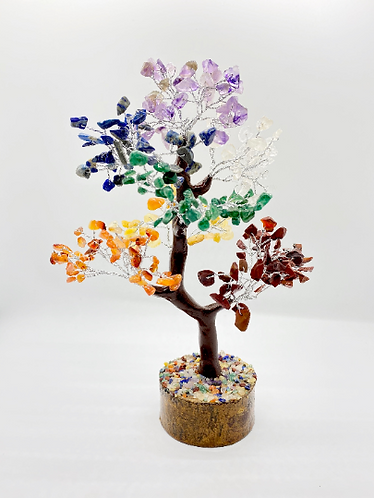 Chakras Prosperity Tree/ Fengshui Bonsai Tree, Reiki, Chakra Healing, Home Decor