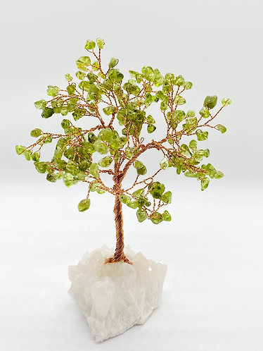 Peridot Prosperity/Feng Shui Bonsai Tree with Quartz