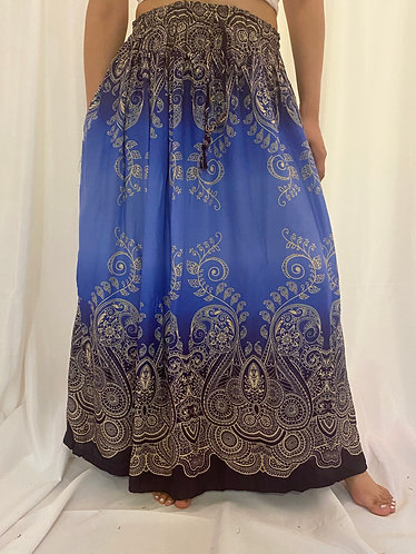 Blue/Purple Rayon Skirt
