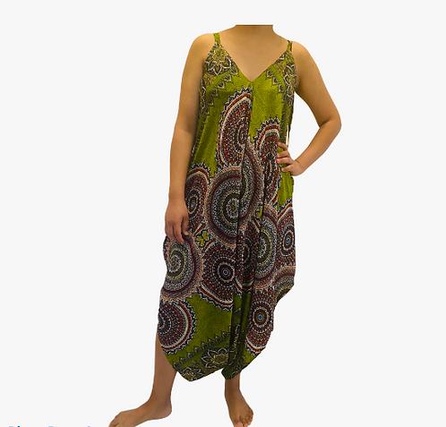 Women Mandala Print Jumpsuit,LongJumpsuit,Boho Jumpsuit