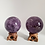 Thumbnail: Amethyst Crystal Sphere with wooden Stand, Deep Purple Amethyst Ball, Round Amet