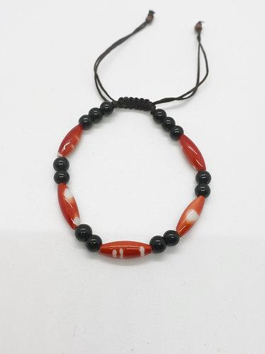 Nepal Handmade Yak Bone Prayer Beads Bracelet