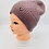 Thumbnail: HandKnit Solid Beanie Fleece Lined Hat,Beanie Hat, Slouchy Hat,Winter Hats,Hats