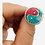 Thumbnail: Vintage Ying Yang Turquoise/Coral Ring, Authentic Ying Yang , Tribal Fusion, Vin