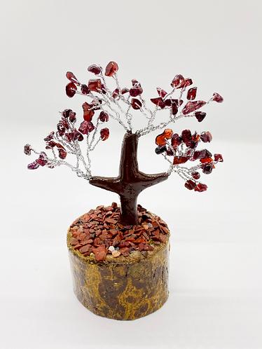 """5"""" Prosperity Tree/Fengshui Bonsai Tree, Carnelian Prosperity Tree, Amethyst, Ro"""