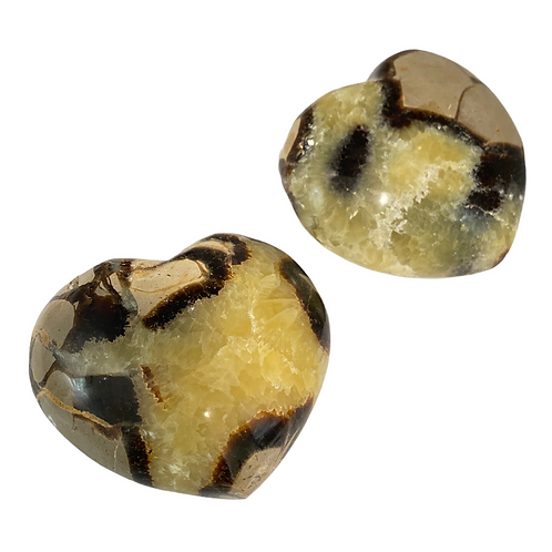 Yellow Septarian Heart Crystal,  Protective Gemstone