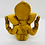 Thumbnail: 5 inches Ganesha Resin Statue, Handcarved Vintage Ganesh Stautue, Good Luck, New