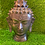 "Thumbnail: Handmade Brass Buddha Head Statue, 8"" Buddha Tranquility Head, Lord Buddha Statu"