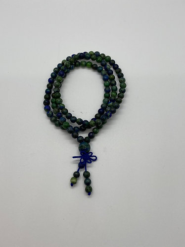 6mm Azurite Malachite Mala beads