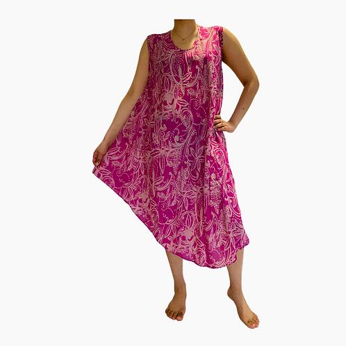 Summer Rayon Comfy Dress/Sun Dress /Hawaiian Dress