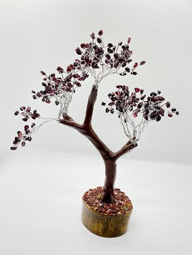 """9"""" Prosperity Tree/Fengshui Bonsai Tree, Garnet Prosperity Tree, Citrine, Clear"""