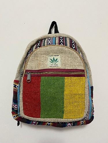 Handmade Rasta Mini Hemp Back Pack, Multi Color Hemp Back Pack from Nepal, Durab