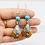 Thumbnail: Nepali Amber Earring with Tibetan Silver, Turquoise, Lapis Lazuli , Coral