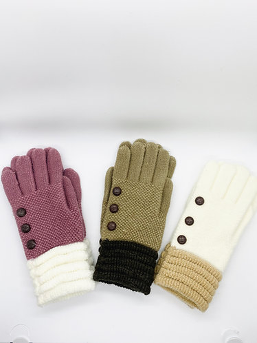 Hand Knitted Gloves for  Women with Lining