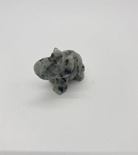 Snowflake Obsidian Guardian Elephant