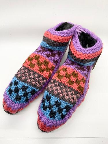 Handknitted Sherpa Indoor Wool Slipper Socks