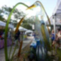 Handblown glass art vendor